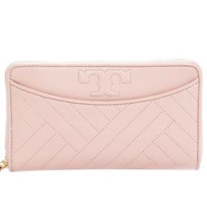 Tory Burch Pink Continental ZIP Wallet